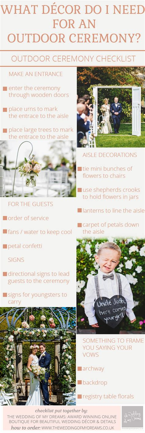 Wedding Ceremony Decoration Checklist by Outdoor Wedding Ceremony Seating Ideas The Wedding Of My