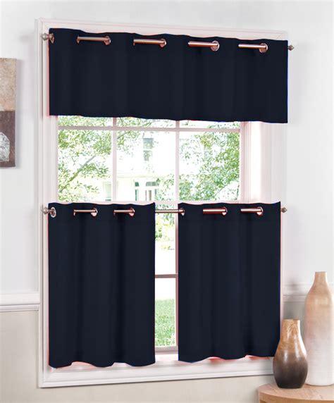 navy kitchen curtains jackson grommet kitchen and bath curtains navy