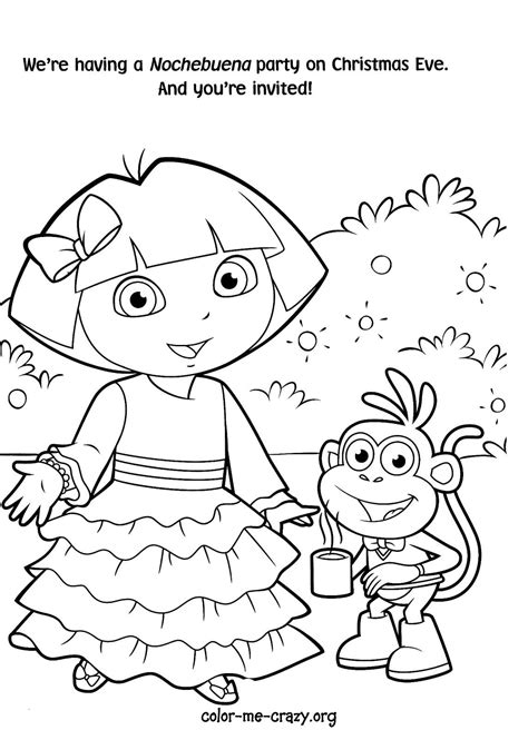 dora the explorer coloring pages to print dora color pages to print coloring home