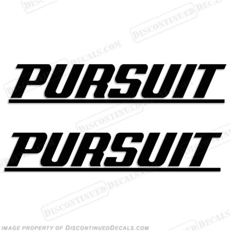 sea pro boat letters pursuit boat logo decal w line any color