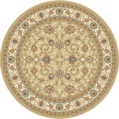 Home Decorators Collection Vaughan Light Gold Ivory 7 Ft Area Rugs Vaughan