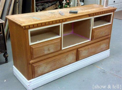 Convert A Dresser Into A Tv Stand by Turn A Dresser Into A Tv Console Diy Projects