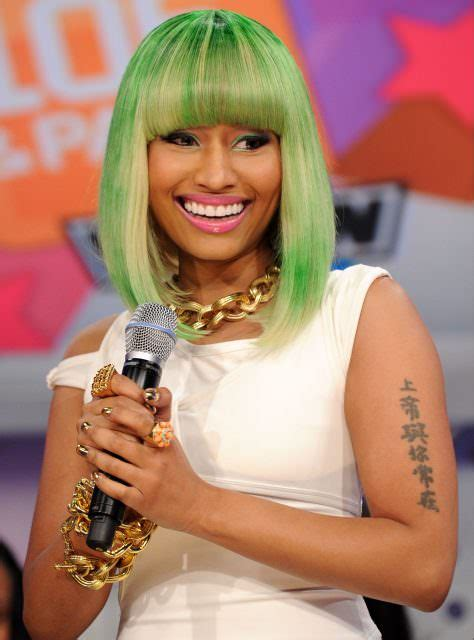 nicki minaj arm tattoo where does nicki minaj live mind blowing photos more