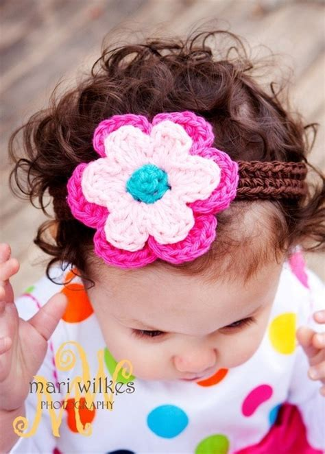 crochet flower headband the trio 30 best images about crocheted hair bands on