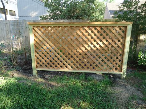 Wood Fence With Trellis Build Trellis Fence For Garden Outdoor Decorations