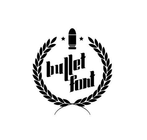 bullet for my font bullet font on behance