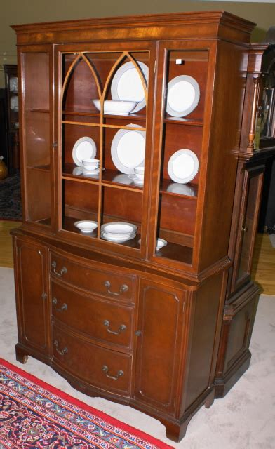 bow front mahogany china cabinet for sale antiques com