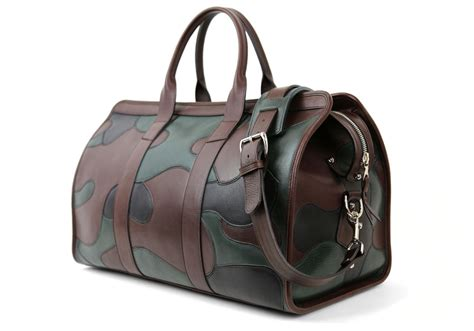 Handmade Leather Bags Usa - leather camo travel duffle bag handmade leather travel