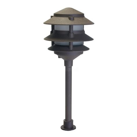 3 tier pagoda light landscape lighting low voltage frosted three tier pagoda light