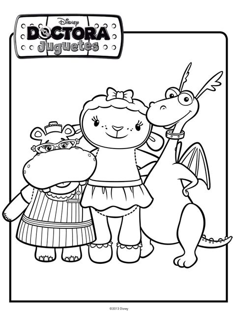dibujos infantiles juguetes imprimir dibujo de los amigos de doctora juguetes