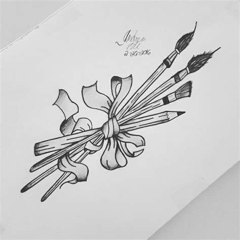 paintbrush tattoo design 25 best ideas about pencil on pencil