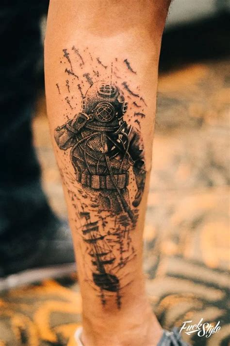 diving tattoos designs best 25 scuba ideas on diver