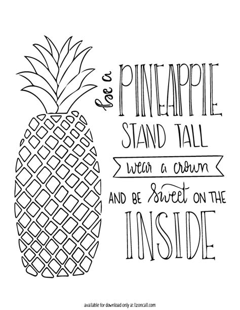 printable quotes com free pineapple printable liz on call