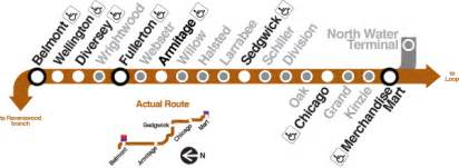 Map Of Brown Line Chicago by Grand Cta North Side Main Line Station