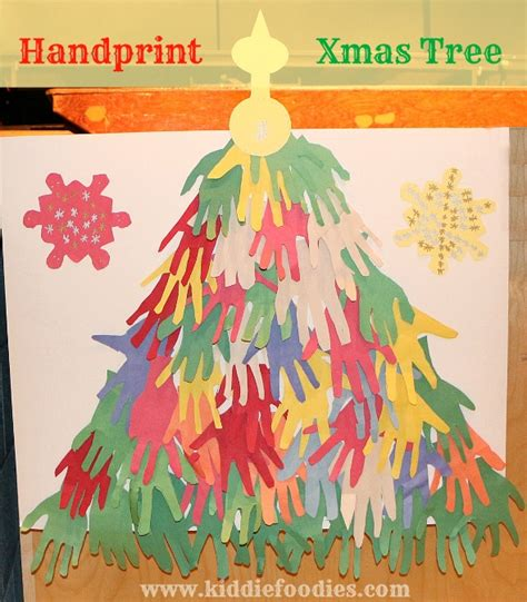 handprint christmas tree easy paper craft for kids