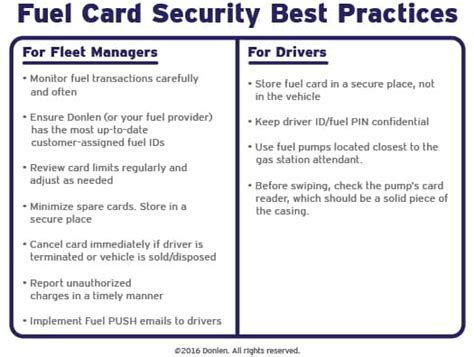 Credit Card Form Best Practices 11 Best Practices To Keep Your Fleet S Fuel Cards Secure Donlen