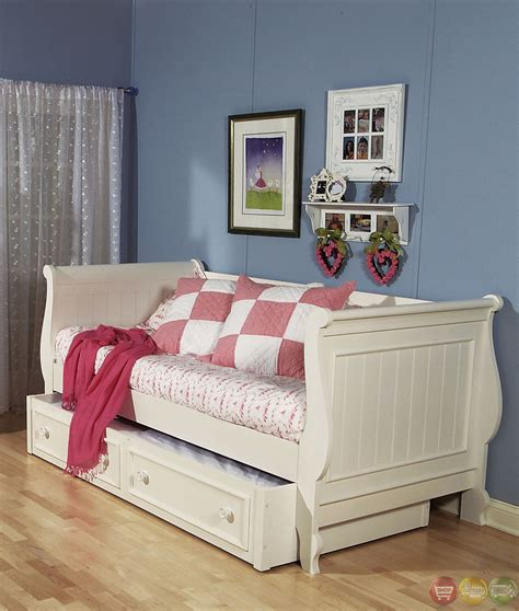 summer simple white cottage youth daybed