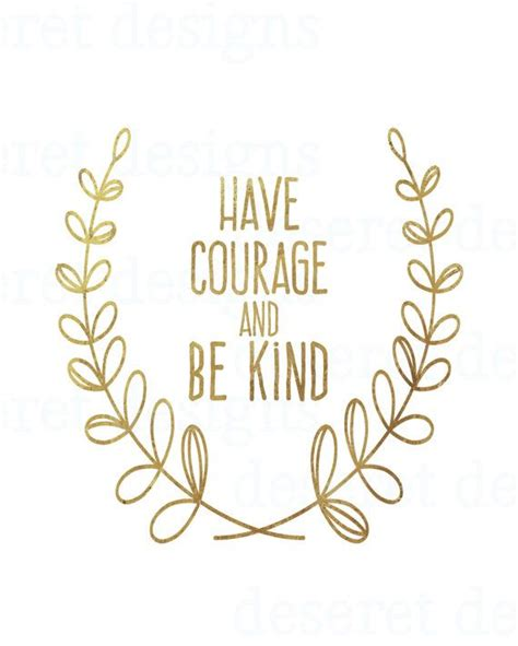 be kind tattoo courage and be by andsheprintedhappily on etsy
