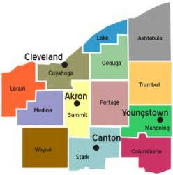 map of northeast counties moving cleveland