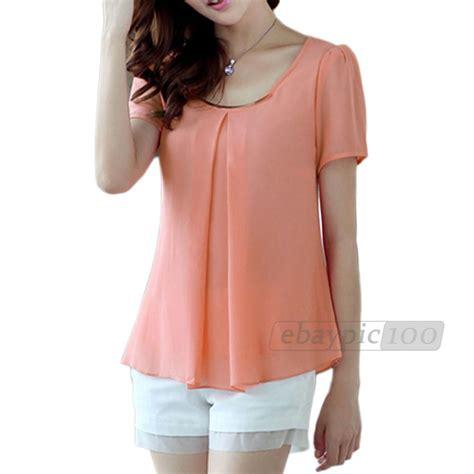blusas cortas de chicas blusa gasa mangas cortas colores para mujer chica moda
