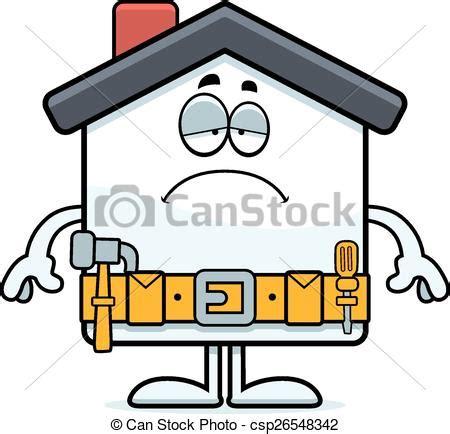 eps vector of sad home improvement a