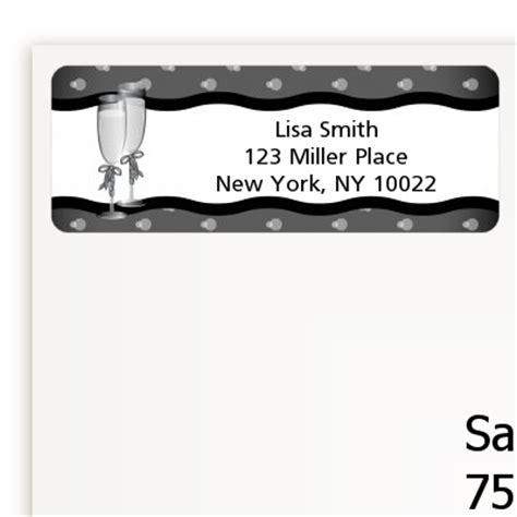 Bridal Address by Chagne Glasses Bridal Shower Return Address Labels