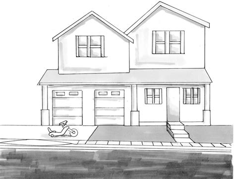 how to draw houses house drawings sketch www imgkid com the image kid has it