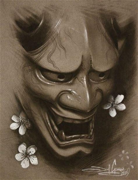 hannya mask cherry blossom tattoo hannya cherry blossoms by jeff gogue tattoonow