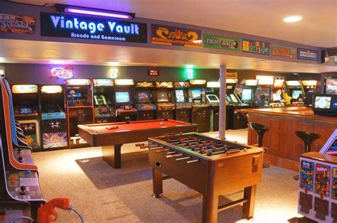 arcade room build insanely impressive retro 80s arcade in basement bit rebels