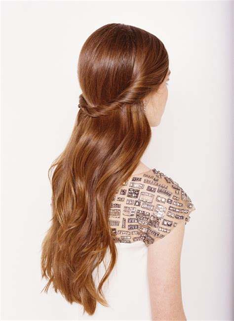down hairstyles for long straight hair half up half down wedding