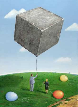 Square Rok stock illustration with square rock balloon