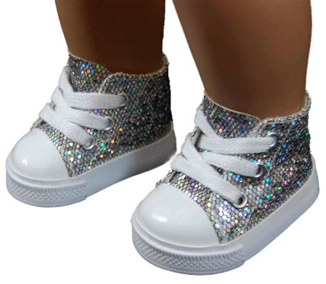 american doll shoes silver high top sneakers shoes for 18 quot american 168 doll