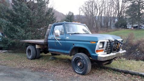 Ford F 250 Standard Cab Pickup 1979 Blue For Sale 1979