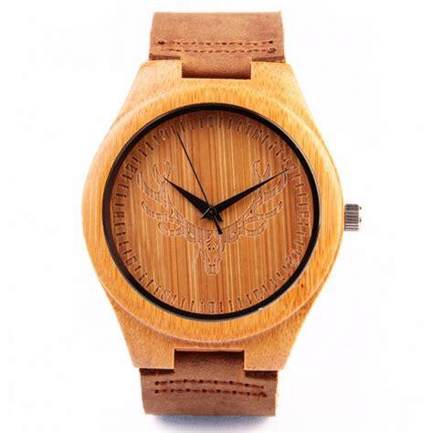 montre bois homme avec bracelet cuir montrebois fr