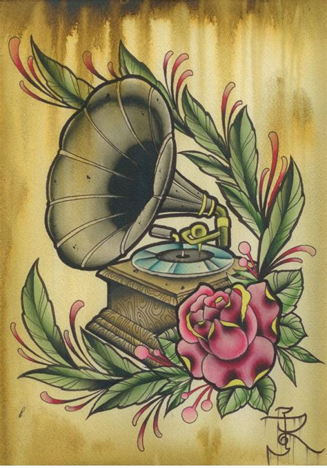 phonograph tattoo best 25 gramophone ideas on