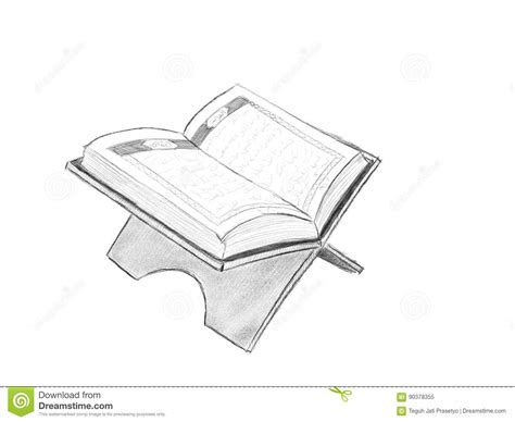 Alquran Black And White al quran illustration with sketch style and black and white color stock illustration image