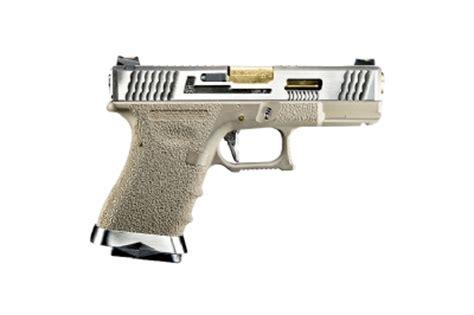 R E A D Y T5 Custom we g19 g t4 custom gbb pistol silver slide frame