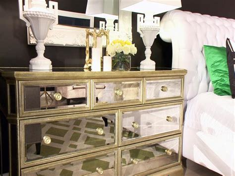 Mirrored Nightstands And Dressers by Sleek Mirrored Bedroom Dresser Hgtv