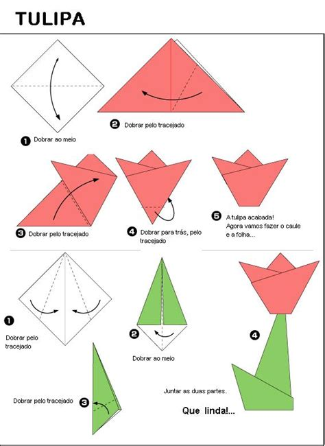 How To Make A Simple Origami - edvitec tulipa origami