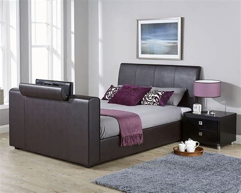 brooklyn bed brooklyn 135cm pneumatic tv bed brown amc furniture