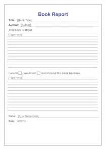 Book Report Guidelines Book Report Years 3 4 Template