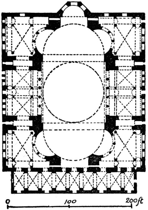 central church section plan of hagia sophia clipart etc