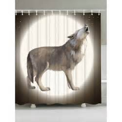 wolf shower curtain moon wolf fabric shower curtain for bathroom in colormix
