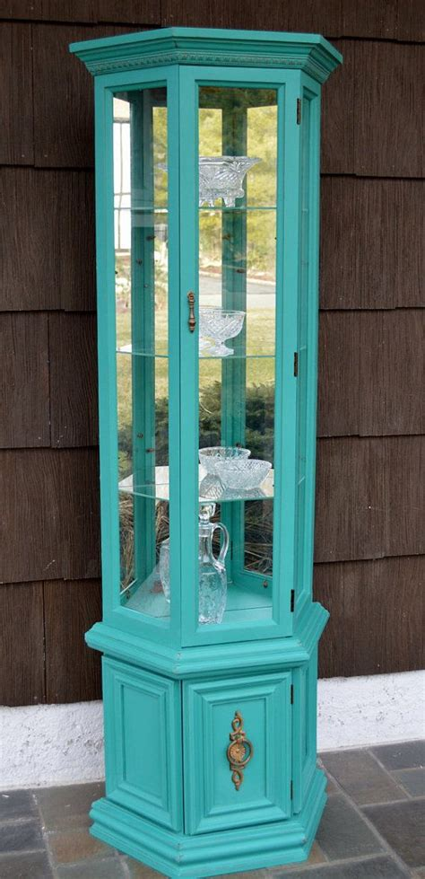 painting curio cabinet ideas painted curio cabinet display my