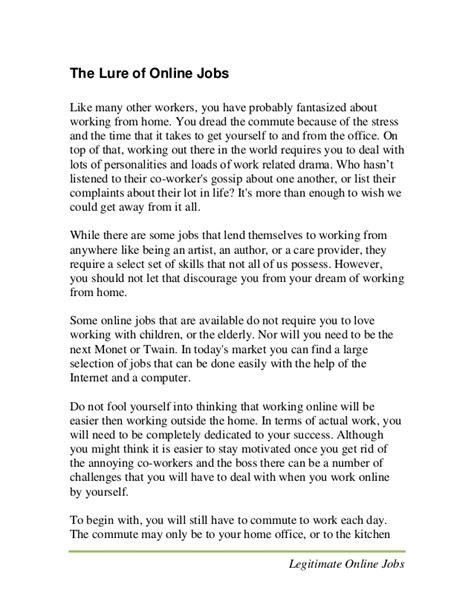 Work From Home Jobs Legitimate Online Jobs 2014 - legitimate work from home jobs legit online jobs earn