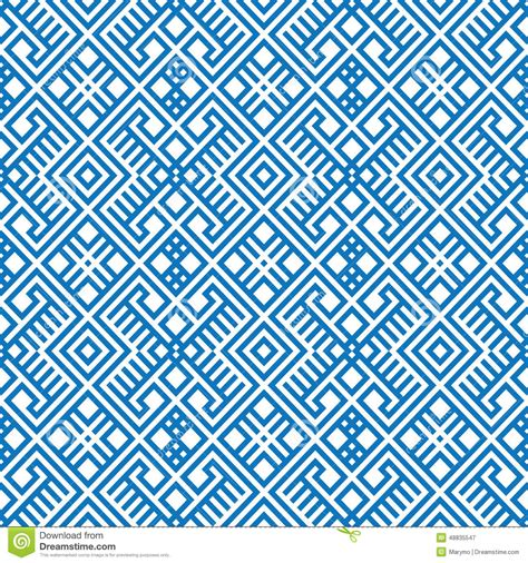 pattern blue white geometric seamless ethnic pattern background in blue and