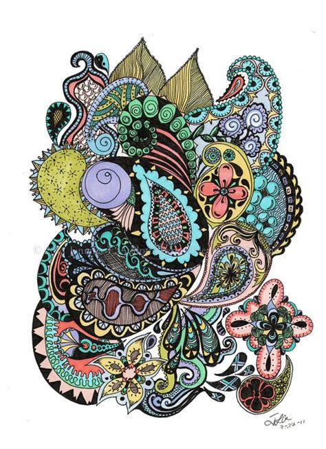 Paisley Pattern Doodle | paisley doodle art pinterest pastel a line and patterns
