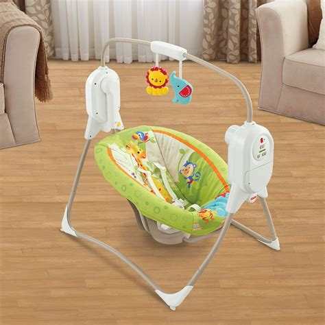 fisher price swing chair rainforest fisher price rainforest friends space saver baby infant