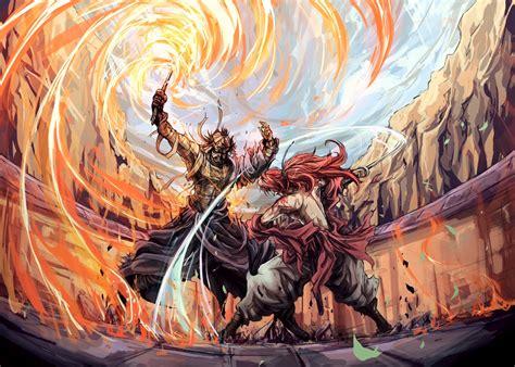 film anime combat hintergrundbilder illustration anime drachen kf