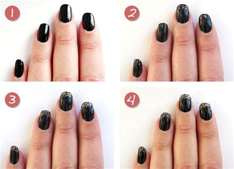 nail art tutorial new year easy step by step happy new year eve 2014 2015 nail art